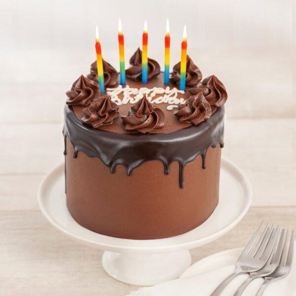 Chocolaty Happy Birthday Cake
