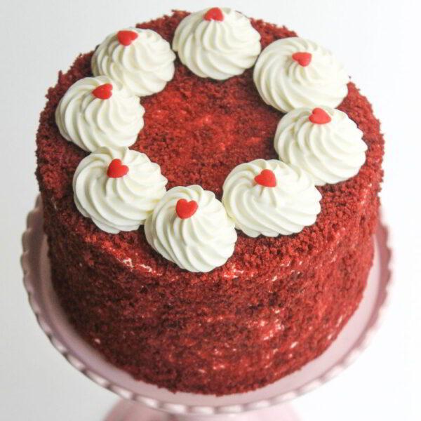 Tiny Heart Red Velvet Cake