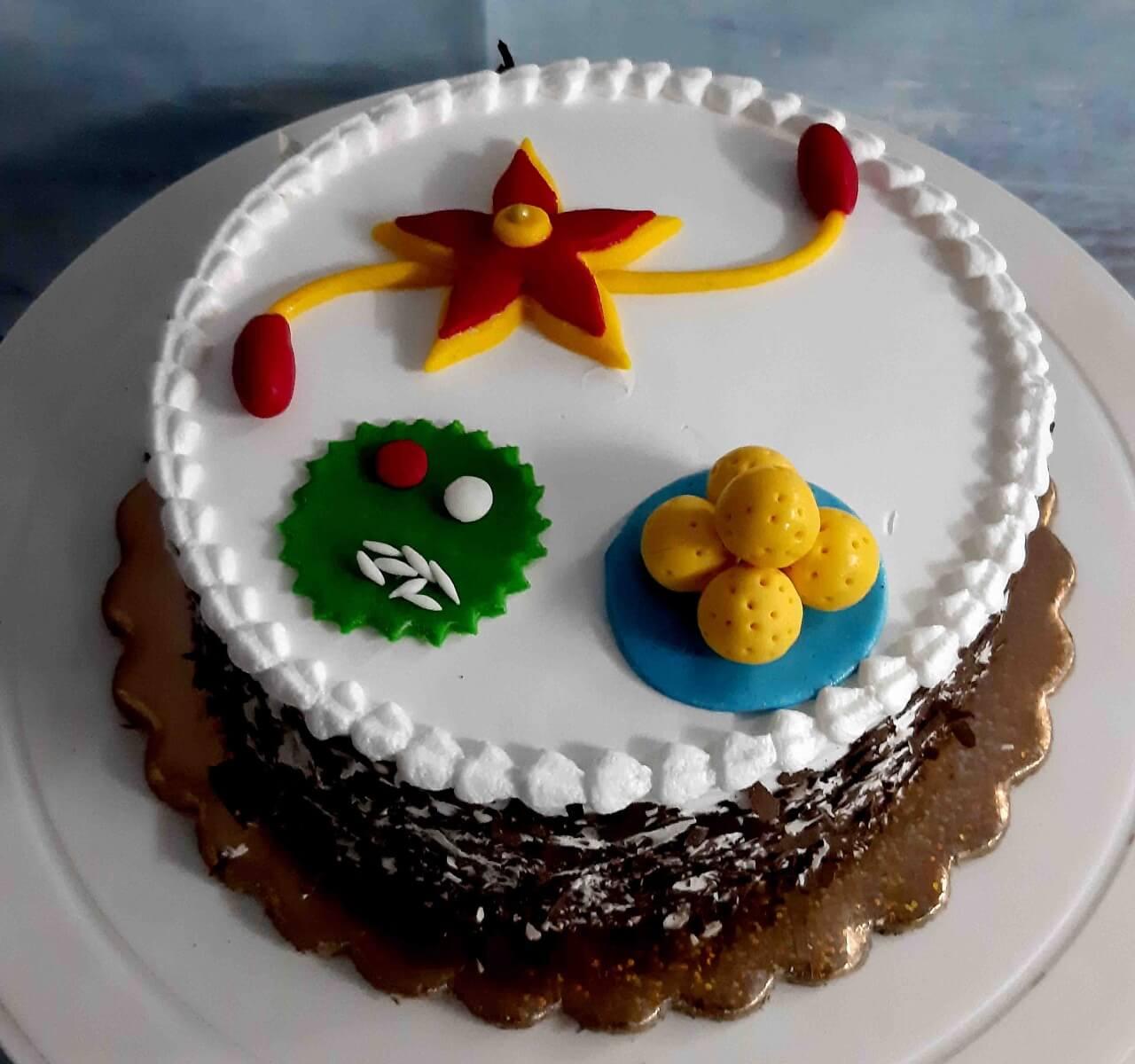 send rakhi cake online in agra 1